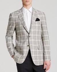 Hart Schaffner Marx Platinum Label Plaid Linen Sport Coat Classic Fit