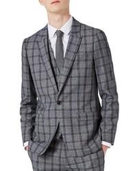 Skinny fit plaid suit jacket medium 3746440