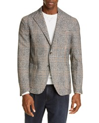Eleventy Slim Fit Plaid Sport Coat