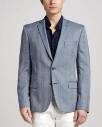 Versace Collection Trend Fit Glen Plaid Blazer