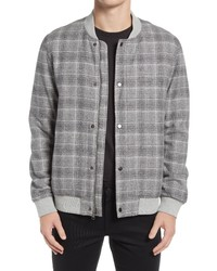 Nordstrom Grindle Plaid Cotton Bomber Jacket