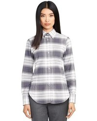 Plaid button down shirt medium 81083