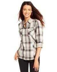 Style co plaid button down shirt medium 81084