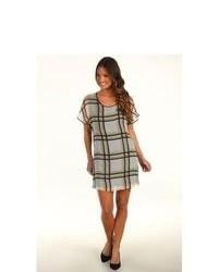 Robert rodriguez ombre plaid dress dress medium 89056