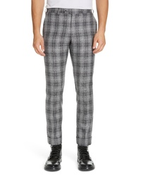 Grey Plaid Chinos
