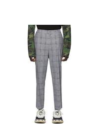 Juun.J Black Check Wool Trousers