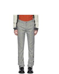 Daniel W. Fletcher Grey Check Split Hem Trousers