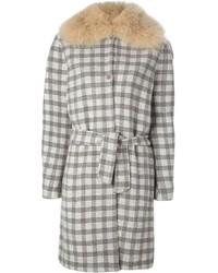 Agnona Fur Collar Coat