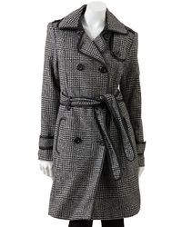 Apt. 9 Plaid Wool Blend Coat