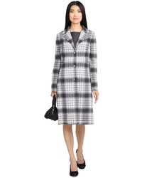 Brooks Brothers Wool Plaid Car Coat