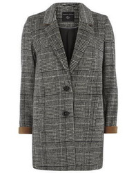 Charcoal Check Boyfriend Coat
