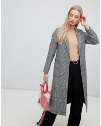 New Look Check Bar Back Maxi Coat Pattern