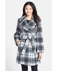 DKNY Chelsea Notch Collar Belted Wrap Coat