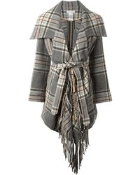 Chloé Check Belted Coat