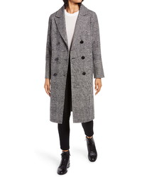 Kenneth Cole New York Houndstooth Wool Blend Coat