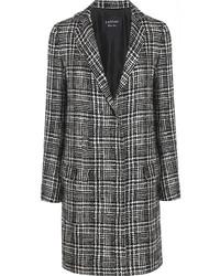 Lanvin Prince Of Wales Check Wool Blend Tweed Coat