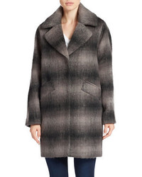 Andrew Marc Marc New York Plaid Button Front Coat