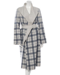 Oscar de la Renta Angora Plaid Coat