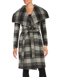 BCBGeneration Plaid Wool Blend Wrap Jacket