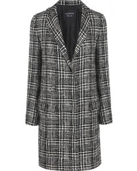Lanvin Prince Of Wales Check Wool Blend Tweed Coat