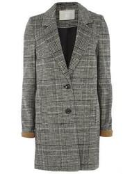 Tall Charcoal Check Coat