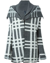 Woolrich Layered Check Cardi Coat