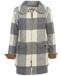 Woolrich White Collection Giant Buffalo Plaid Wood Coat
