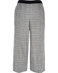 Grey smart check culottes medium 258430