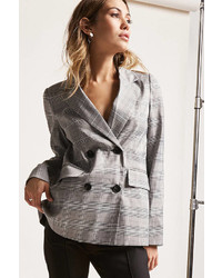 Forever 21 12x12 Plaid Double Breasted Blazer