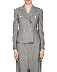 Calvin Klein 205w39nyc Glen Plaid Wool Crop Blazer