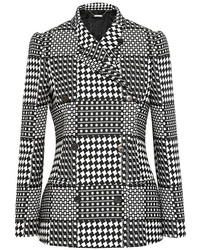 Alexander McQueen Prince Of Wales Check Jacquard Double Breasted Blazer