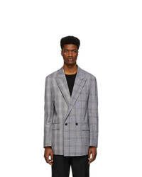 Juun.J Black And White Check Blazer