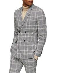 Topman Kenny Check Super Skinny Sport Coat