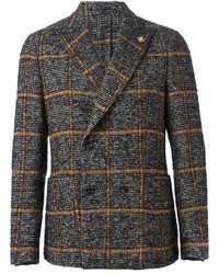 Lardini Checked Double Breasted Blazer