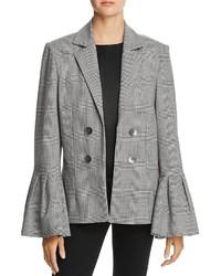 Style Mafia Lotta Plaid Bell Sleeve Blazer 100%