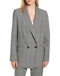 Rebecca Minkoff Maurina Glen Plaid Double Breasted Jacket