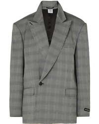 Vetements Oversized Prince Of Wales Checked Woven Blazer