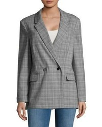 Miss Selfridge Plaid Double Breasted Blazer