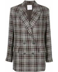 CITYSHOP Plaid Double Breasted Blazer