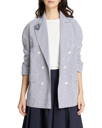 Alex Mill Seersucker Check Cotton Blazer