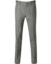 Grey Plaid Dress Pants