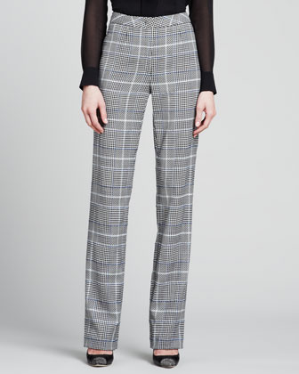 Escada Glen Plaid Classic Pants Black | Where to buy & how to wear