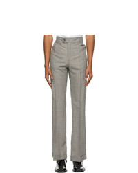 Ernest W. Baker Grey And Brown Houndstooth Flare Trousers