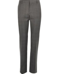 River Island Grey Check Wool Blend Slim Suit Pants