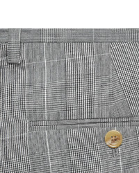 J.Crew Grey Slim Fit Prince Of Wales Check Wool And Linen Blend Suit on treasury check, bank of america check, anatomy of check, suntrust check, starter check,