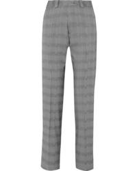 Vetements Houndstooth Wool Blend Slim Leg Pants