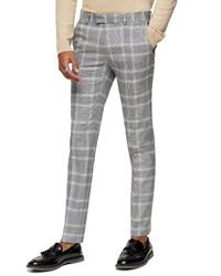 Topman Kenny Super Skinny Plaid Crop Dress Pants