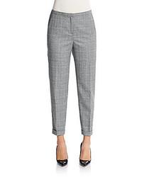 Plaid tapered slim leg pants medium 420939
