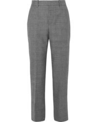 Balenciaga Prince Of Wales Checked Wool Straight Leg Pants
