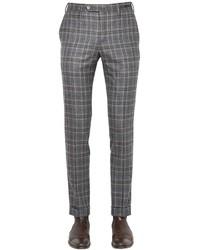 Pt01 18cm evo fit plaid brushed wool pants medium 653859
